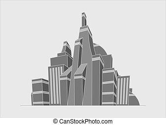 futuristic city illustration