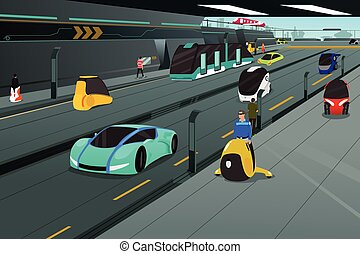Futuristic city transportation