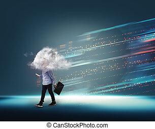 Futuristic cloud technology