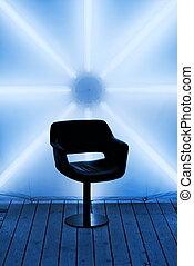 Futuristic design (toned in blue)