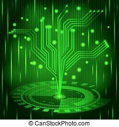 Futuristic digital background