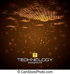 Futuristic digital background with space for text.