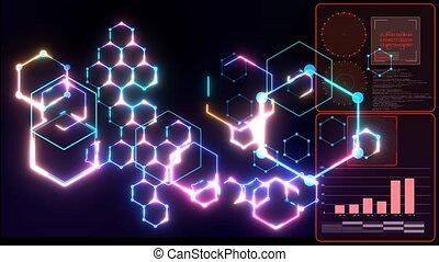 Futuristic digital data processing nano technology smart ...