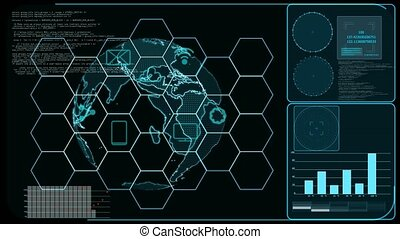 Futuristic digital powerful locked abstract cyber security ...