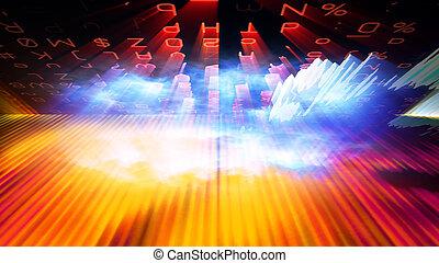 Futuristic Digital Tech Display 10704