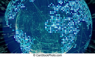 Futuristic Digital World Connections