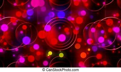 Futuristic disco light video