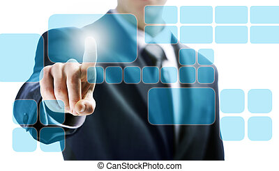 touchscreen interface - futuristic display: touchscreen...