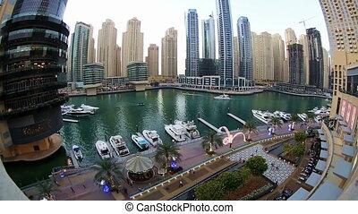 Futuristic Dubai at United Arab Emirates UAE