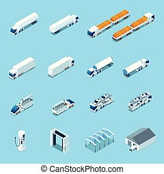 Futuristic Electric Vehicles Isometric Icons - Futuristic ...