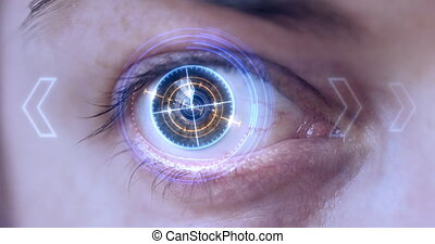 Futuristic Eye HUD / monitor.