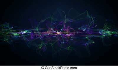 futuristic form. computer generated abstract motion background