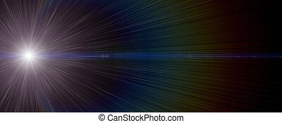 Futuristic glowing light flare background design...