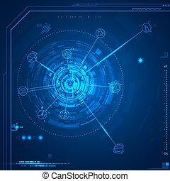 Futuristic graphic user interface. Vector illustration