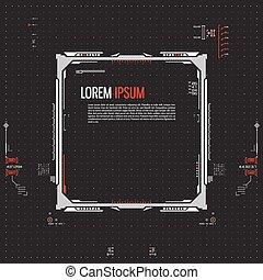Futuristic graphic user interface. Vector illustration.