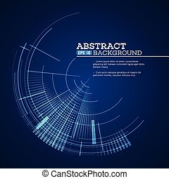 Futuristic graphic user interface. Vector illustration