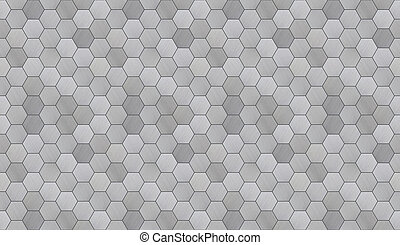 Hexagonal alunimun tiles as a high detail futuristic seamless background