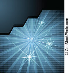 Futuristic high tech abstract vector background for poster