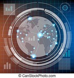 Futuristic HUD infographics - Futuristic infographics with...