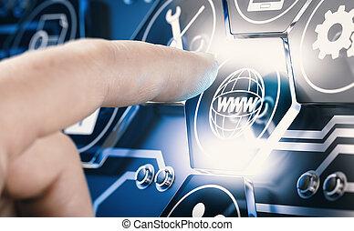 Futuristic Interface, Future Technology And Web Development Concept.
