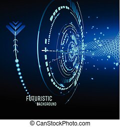 Futuristic interface, HUD, vector background - illustration...