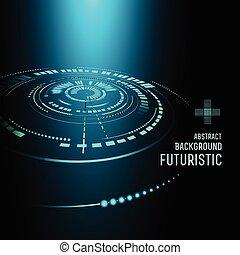 Futuristic interface, HUD, vector background - illustration...