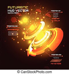 Futuristic interface infographics, HUD, technology vector background