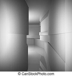 Futuristic interior - Abstract architecture background,...
