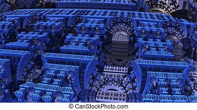 Futuristic mechanism inner structure 3d animation. Complex ...