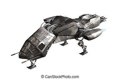Futuristic military drone