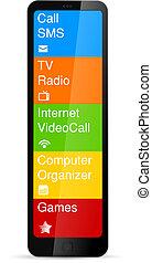 Futuristic Mobile phone concept.