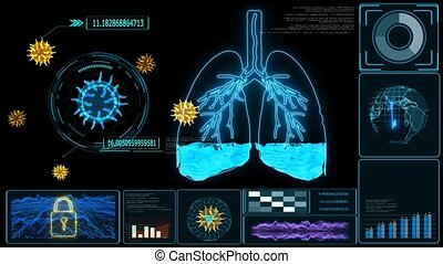Futuristic monitor of Pulmonary Edema is a condition caused by abnormal fluid in the alveoli. Resulting in patients with difficulty breathing or lack of breath due to lack of oxygen