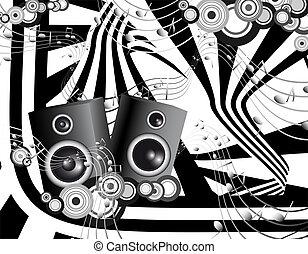 Futuristic music - Illustration of Futuristic music