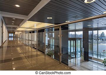 Futuristic office - Interior of a modern futuristic office...