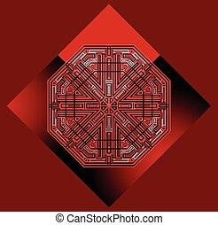 futuristic, piros háttér