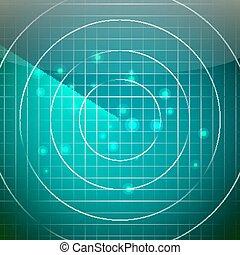 Futuristic Radar Vector. Territory With Smooth Light...