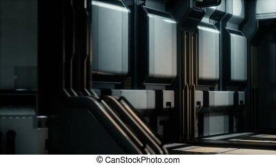 futuristic sci fi Spaceship interior