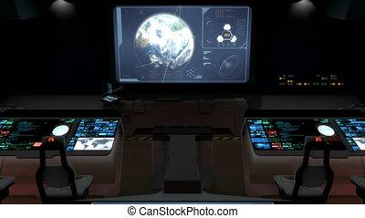 "Futuristic science fiction command center V2. - ""Computer ..."