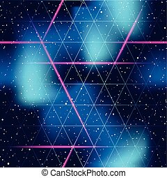 futuristic seamless space pattern - 1980's inspired...