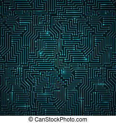 Futuristic Shining Dark Blue Technology Backgorund -...