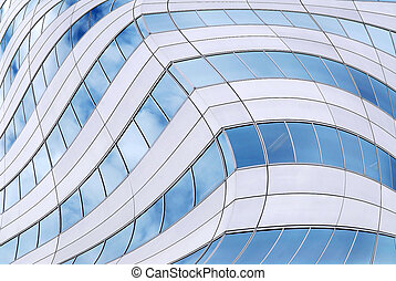 Futuristic skyscraper background - Abstract background of...