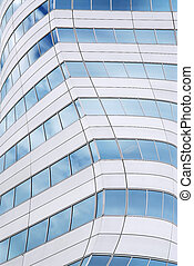 Futuristic skyscraper - Abstract background of walls of...