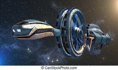 Futuristic spacecraft