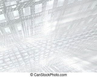 Futuristic structure - tech style abstract digitally generated image