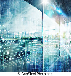 Futuristic tech background - Futuristic background with...