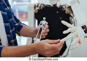 Close up of a robot model