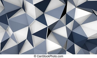 futuristic techno polygon surface loopable background