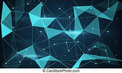 futuristic techno shape polygon background