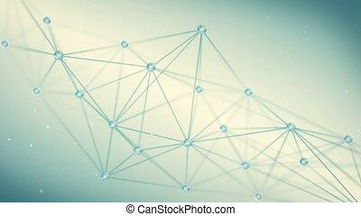 futuristic techno shape polygon background loop