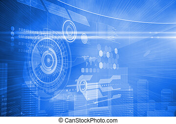 futuristic, technológia, határfelület